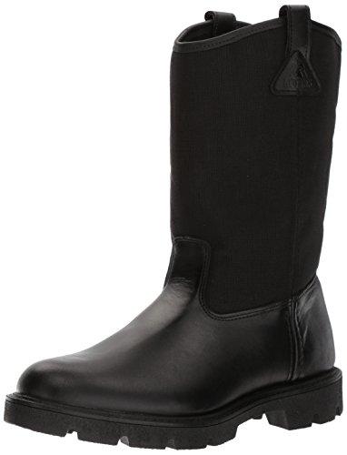 Rocky Men's Men's 10 Inch Pull-on 6300 Work Boot,Black,14 XW US