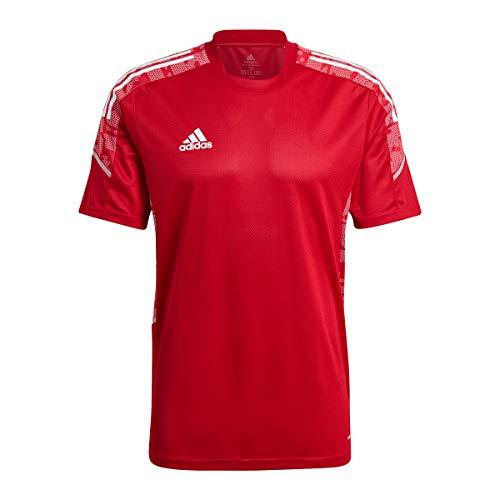 adidas Condivo 21 PRIMEBLUE Camiseta, Potencia del Equipo Rojo/Blanco, XXL para Hombre