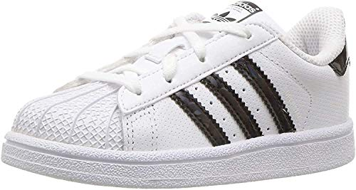 adidas Superstar J, Zapatillas Unisex Niños, Blanco (Footwear White/Core Black/Footwear White 0), 38 EU