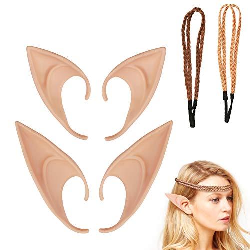 los dos conjuntos de orejas de ltex ZoomSky de oreja interesante elfo de oreja divertido fiesta de halloween disfrazar
