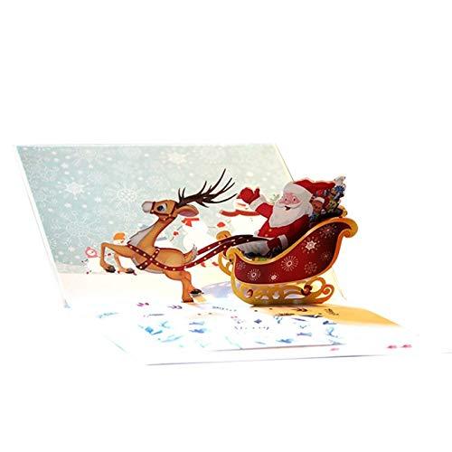 DABENXIONG 1 Pz 3D Cartolina di Natale 3D Floating Bottle Handmade Gift, Cartolina di Ringraziamento, Pop Up Cartolina Regali con Busta PVC Invitamenti Fatti A Mano, Invia per Gli Amici E La Famiglia