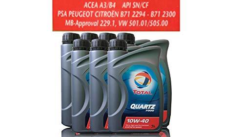 7 liter motorolie TOTAL QUARTZ 7000 10W-40