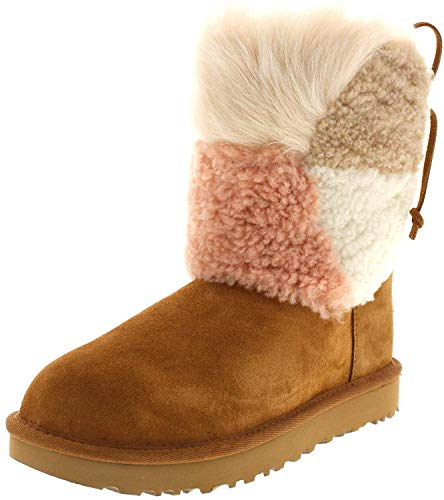 Stivales UGG Classic Charm Patch Fluff 37 Beige