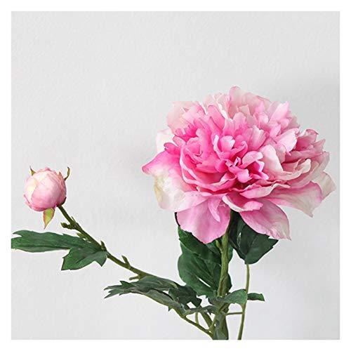 DXM Imitation Pfingstrose, Nachahmung echtes Gefühl Pfingstrose, künstliche Hochzeitsblume Künstliche Blume für Dekoration Tisch Blume Nordische künstliche Blume (Rosa) (Color : Purple)