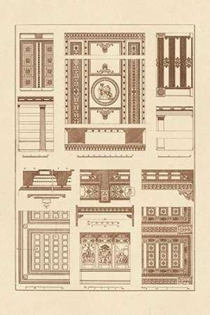 WANDAFBEELDING-op-CANVAS-Plafonds-met-zichtbare-Course-van-Balken-Buhlmann-J.-museo-Print-op-canvas-op-houten-frame-voor-wanddecoratie-Afbeelding-gedruckt-Afmeting-60_X_39_cm