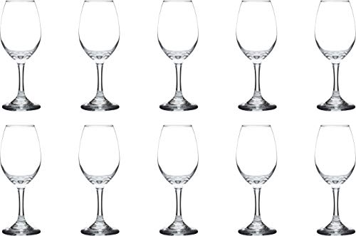Rioja Wine Glasses - 10 Pack - Great for Wedding, Favors, Promotional, Tasting, Bars - 10 oz - Clear