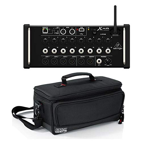 Behringer X Air XR16 Digital Mixer for iPad/Android Tablet with Wi-Fi and USB Recorder - Bundle With Gator Cases Padded Nylon Bag Custom Fit for Behringer X-AIR Mixer,