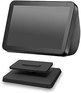 Iycorish Aluminum Stand Mount Anti-Slip Base Bracket for Amazon Echo Show 8 Full 360 Degree Adjustable Rotatable Bracket B...
