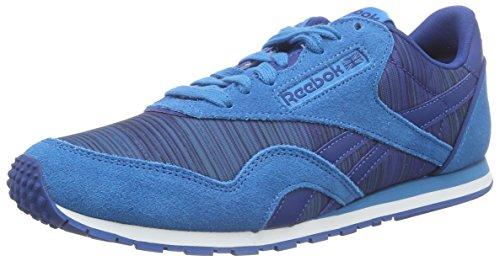 Reebok Mädchen Cl Nylon Slim Geo Graphic Laufschuhe, Blau (Conrad Blue/Handy Blue/Faux Indigo/Instinct Blue/White), 35.5 EU