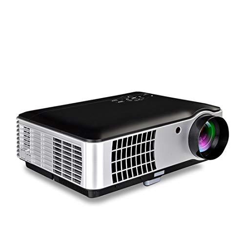 CHENGUANGLONG Proyector STGU RD-806 1200LM 1280x800 Proyector del Teatro casero del LED con Mando a Distancia, Soporte HDMI, VGA, AV, TV, interfaces USB (Negro) (Color : Black)