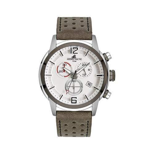 Adora Herren Chronograph Quarz Uhr mit Leder Armband AN2135