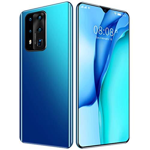 Outdoor Smartphones ohne Vertrag, 7,0-Zoll P41Pro 4G Handys, 6+128GB Speicher, 13MP +24MP Kameras, 4800mAh Batterie, Dual SIM Android 10.0 Handy,Blau