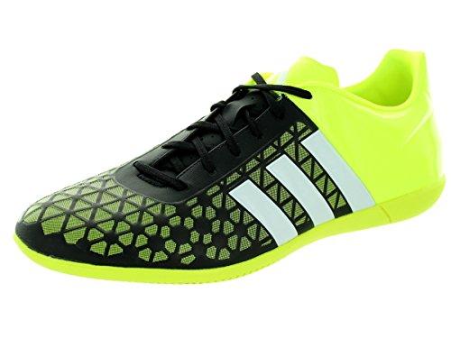 adidas Herren ACE 15.3 IN Fußballschuhe, Mehrfarbig (Black/White/Yellow), 46 2/3 EU