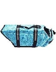 Hondenleven Vest Saver Safety Swimsuit Preserver met reflecterende strepen/verstelbare riem voor hond (blauw, m)