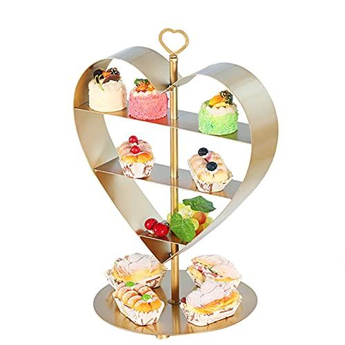 PETAAA 3 Niveles De Cupcake, Exquisito Hierro Forjado Metal Marco De Metal Restaurante Servidor De Alimentos Postre para Hornear Suministros Fáciles De Limpiar 45 * 18 * 55 Cm(Size:45 * 18 * 55cm)
