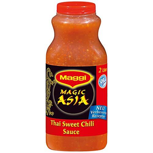 Maggi Thai Sweet Chili Sauce, süss-saure Würzsauce, 1er Pack (1 x 2L Flasche)