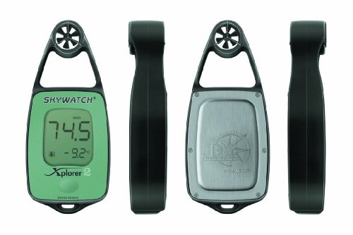 JDC Electronics Skywatch Xplorer 2 Wind-/Temperaturmessgerät, Grün