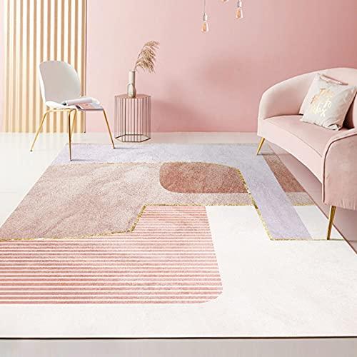 Gpink Moderne Rosa Minimalistischen Stil Teppich Unregelmäßige Geometrische Sofadecke Für Zuhause Wohnzimmer Couchtisch Matte Homestay Dekoration Bodenmatte Schlafzimmer Vollbettdecke