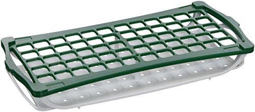 Camlab plastica, RTP/7021 G-Supporto a 2 livelli per tubi da 5 mL, colore: verde