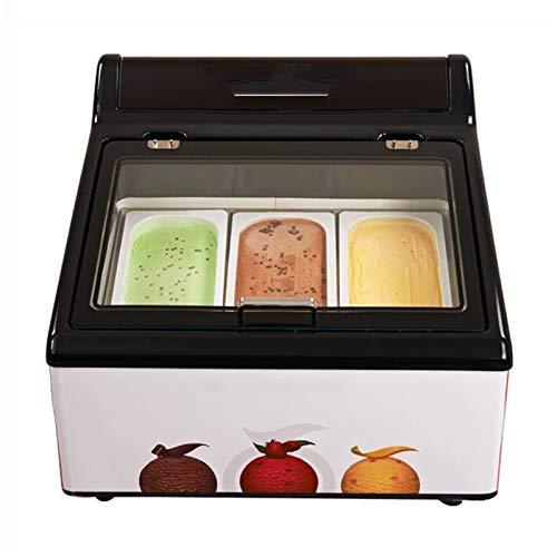SHIYANLI Crema hogar Congelador Escritorio Hielo Vitrina Postres Congelados Nevera de Hielo refrigerador Contrario G1902033