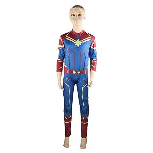 BCOGGEndgame - Disfraz de Capitn Marvel para nios y nias, color azul