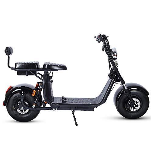Coche Eléctrico Harley Coche Eléctrico Doble Scooter Adulto Batería De Neumático Ancho...