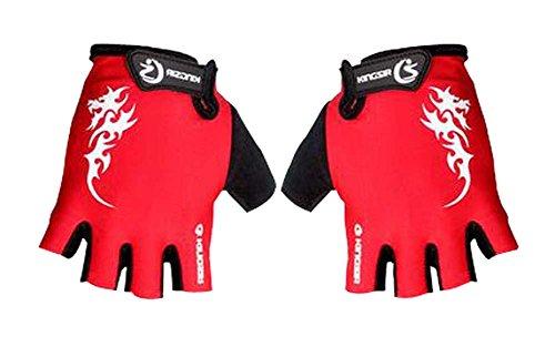 Alien Storehouse Sport-Handschuhe Herren Radfahren Handschuhe Halbfinger Handschuhe Red