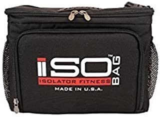 IsoCube 6 Meal Management System -Black/Red / Insulated Lunch Box / Insulated Lunch Bag - Isolator Fitness by Isolator Fitness
