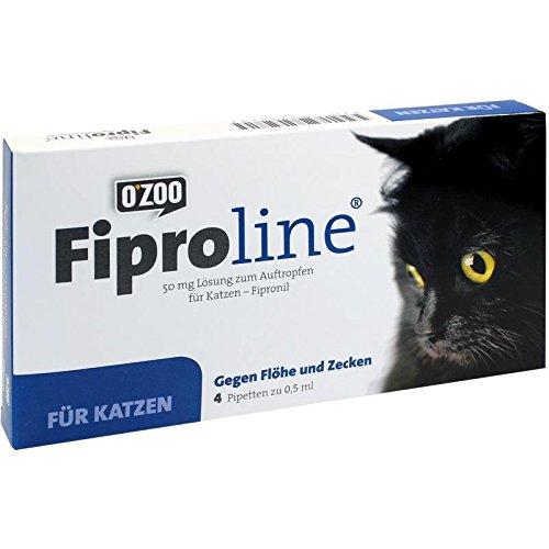 FIPROLINE 50 mg Lösung z. Auftropf. f. Katzen 4St 57301