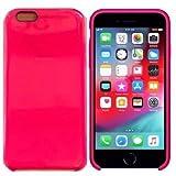 Funda de Silicona Silicone Case para iPhone 6 Plus, iPhone 6S Plus, Tacto Sedoso Suave, Carcasa Anti Golpes, Bumper, Forro de Microfibra… (Fucsia)