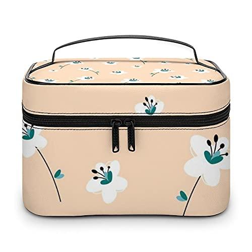 Hermosa bolsa de aseo impermeable bolsa de viaje bolsa de cosméticos con cremallera, organizador de maquillaje, bolsa de maquillaje para aparador, baño, hombres y mujeres, Blanco-estilo-3, 25x18x15cm,