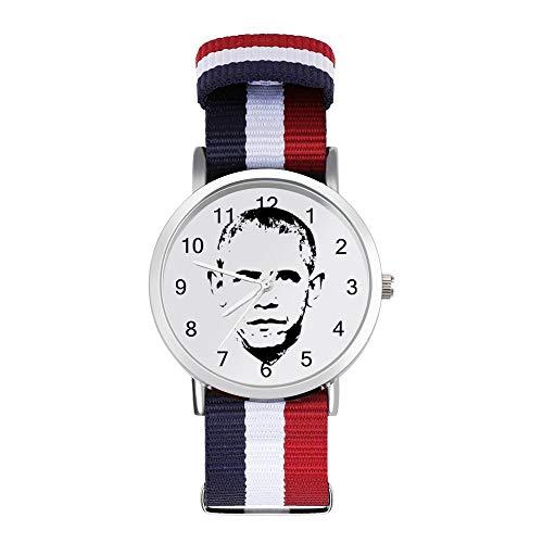 Barack Obama Face Freizeit Armband Uhren Geflochtene Uhr mit Skala