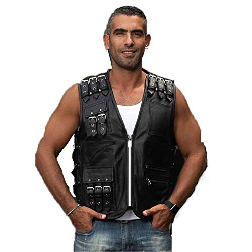 Mens Cowhide Leather Driving Jacket
