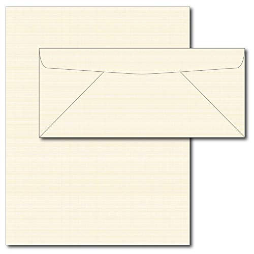 28lb Cream Linen Resume Paper & Envelopes - 40 Sets