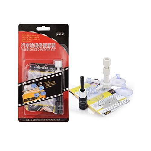 Mikiya Windschutzscheibe Reparatur Kit Quick Fix DIY Auto-Wind Glas Bullseye Rock-Chip Sprung Star Auto Glass Repair Fluid-Autoglas Spezial-Kratzer-Reparatur-Werkzeug