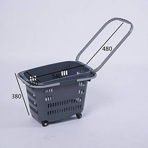 HDGZ Einkaufstrolley Einkaufsroller klappbare Einkaufswagen Faltbarer Einkaufsroller Shopping Trolley Roller Einkaufshilfe Einkaufs Trolley(B)