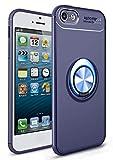 SORAKA Funda para iPhone 5/5S/SE con Anillo Giratorio de 360 Grados Funda Silicona Suave Funda Ultrafina con Placa de Metal para Soporte magnético de teléfono para automóvil
