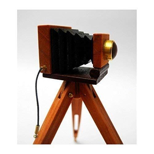 Liebe 46137 TRAVAIL MANUEL Caméra avec trépied Bois 1:12 pour maison de poupée