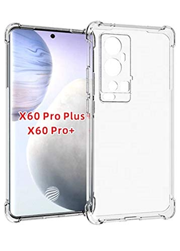 Cassby Back Cover for Vivo X60 Pro Plus/Pro+ 5G (Transparent|Camera Protection|Silicon)