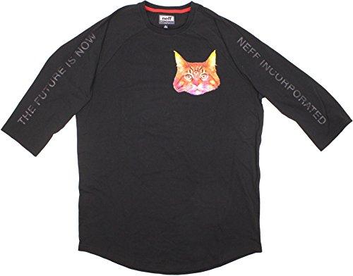Preisvergleich Produktbild Neff Herren Raglan-T-Shirt Third Eye - Schwarz - X-Groß