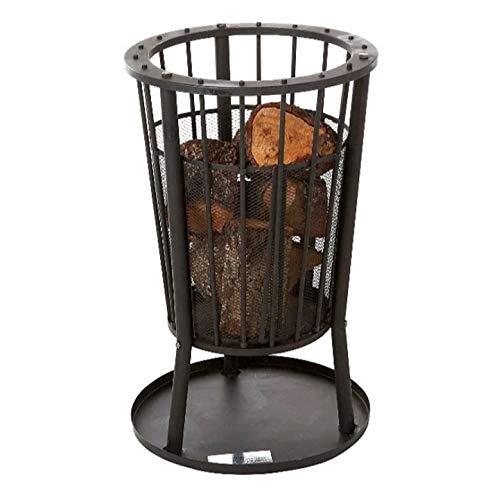 Expert Grill Large Fire Pit Set: Arandas (Wood or Charcoal, Basket Log Burner Garden Heater, Chimenea Patio Wood Chiminea Tall)