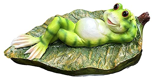 Desktop-Skulptur Skulptur statue schwimmende frosch frosch outdoard dekoration figuren terrasse teich handwerk dekoration hydroponic blumentopf