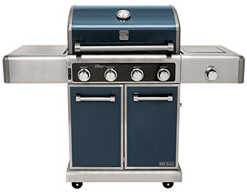 Kenmore Elite PG-40415S0LC-AM 4 Burner Outdoor Patio Gas BBQ Grill, Metallic Gun Metal