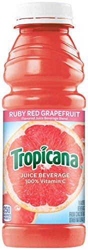 Tropicana Juice Ruby Red Grapefruit, 15.2 oz Plastic Bottle (Pack of 24)