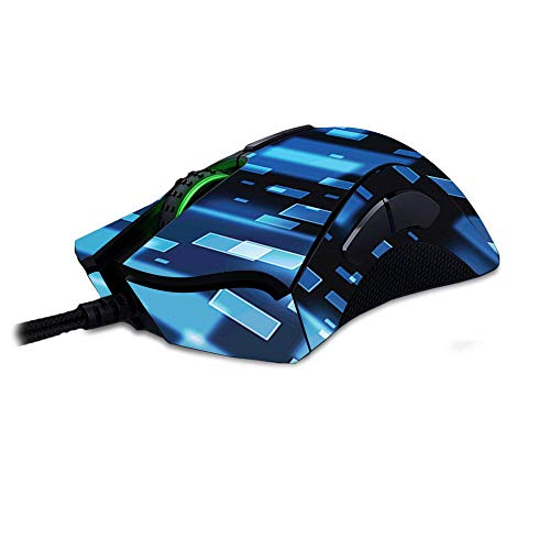 MightySkins Skin Compatible with Razer Deathadder Elite - Space Blocks   Protective, Durable, and Unique Vinyl Decal wrap Cover   Easy to Apply, Remove, and Change Styles   Made in The USA