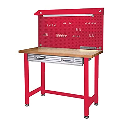 Seville Classics UltraHD Lighted Workbench Red Mart4u by Seville Classics