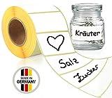 LEANDER DESIGN® 1000 Etiketten selbstklebend 6x3 cm – praktische Klebeetiketten zum beschriften...
