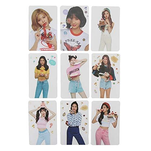 9 Stks/SET K-pop TWICE Nieuwe Ablum Wat Is Liefde Lomo Kaarten Zelf Gemaakt Kunststof Transparant Fotokaarten Fotokaart