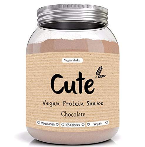 Cute Nutrition Poudre de protéines Végan Chocolat Sans gluten Aide à la perte de poids et la récupération Convient aux végétariens et végans Sans OGM