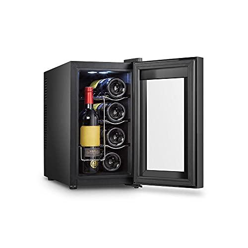 YHLZ Enfriador De Vino De 8 Botellas Barra De Hielo Oficina Sala De Estar Hogar Refrigerado De Una Sola Puerta Refrigerador Pequeño Enfriador De Bebidas De Té